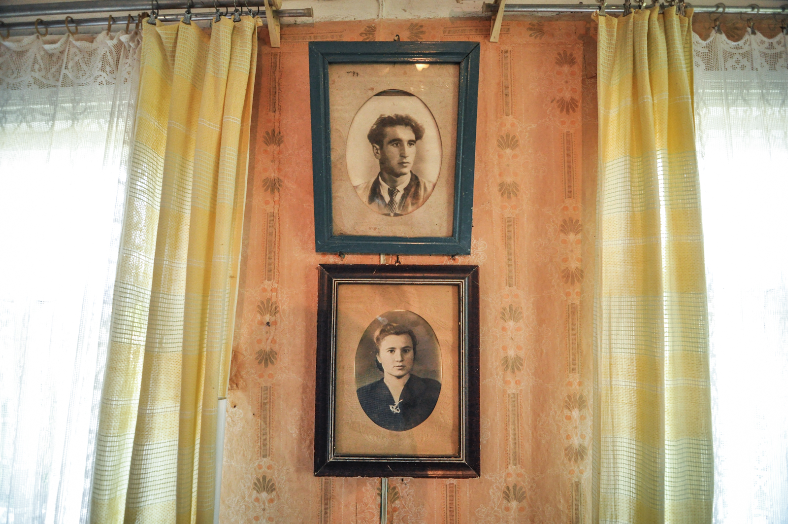 Family portraits in a house next to the nuclear Exclusion Zone in Ukraine
