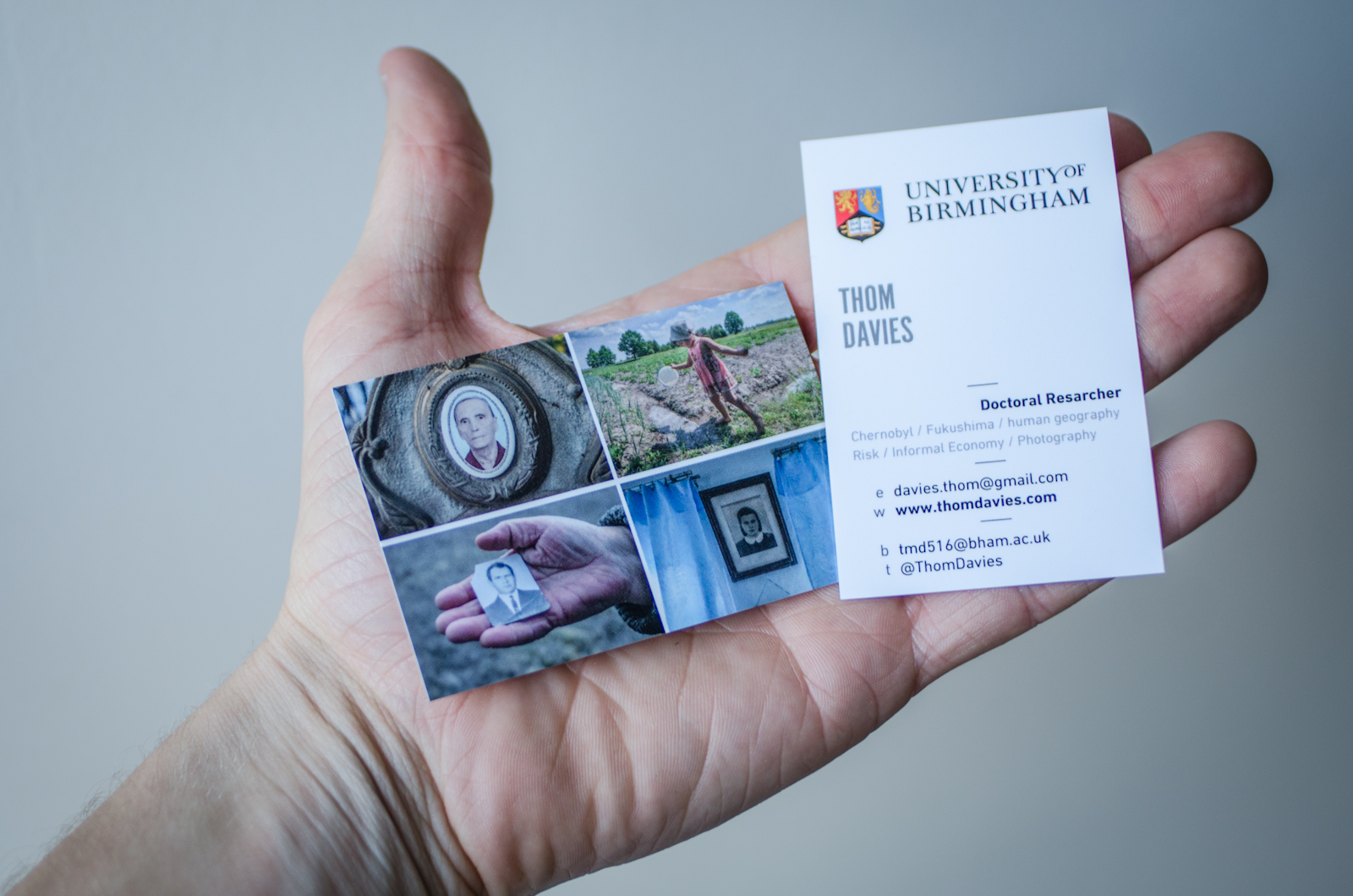 Business cards thom davies i am getting ready to travel to japan this summer to research the ongoing impacts of the fukushima nuclear accident i have been awarded a jsps fellowship reheart Images