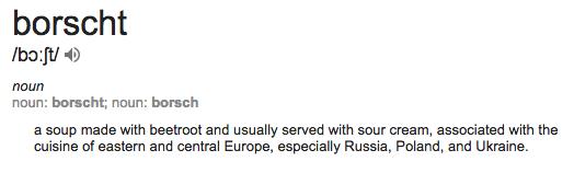 Borscht definition