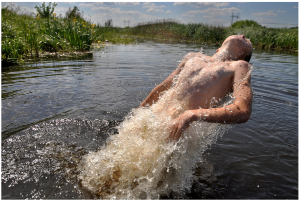 Chernobyl Swimmer - exhibited in Portrait Salon Exhibition, part of my 'Chernobyl: War without War' series.