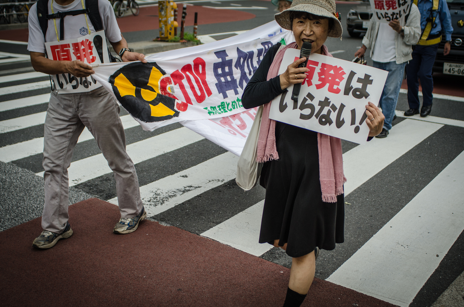 Press right for images of the anti-nuclear protest